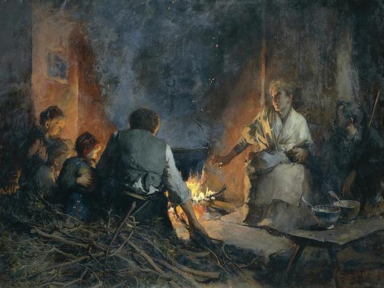 Hospitality in Mountains, 1897-Vittorio Cavalleri-Giclee Print