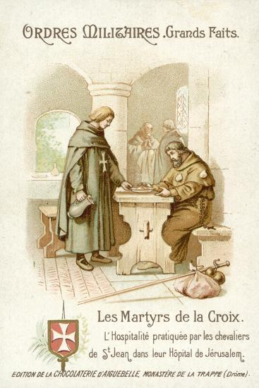 Hospitality Provided by the Knights of St John in Jerusalem--Giclee Print