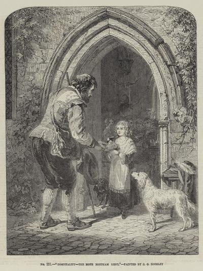Hospitality, the Mote, Ightham, Kent-John Callcott Horsley-Giclee Print