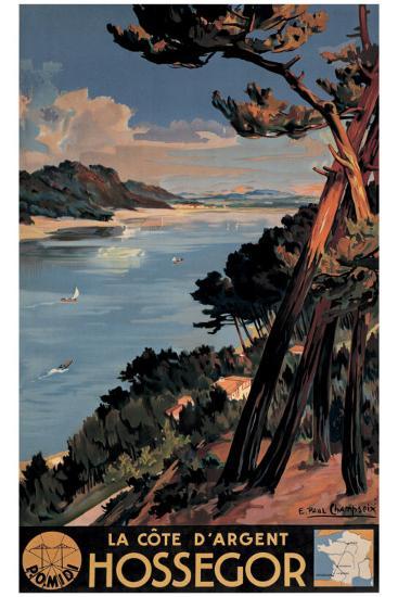 Hossegor-E^ Paul Champseix-Giclee Print