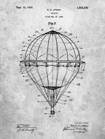 Hot Air Balloon 1923 Patent-Cole Borders-Art Print