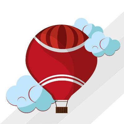 Hot Air Balloon Graphic , Vector Illustration- Jemastock-Art Print