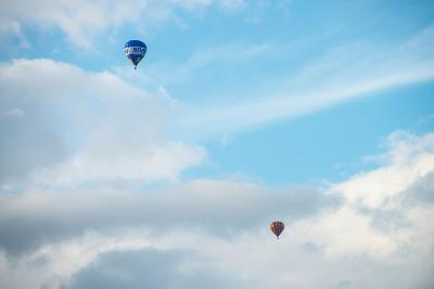 Hot Air Balloon High Above Bristol with Storm Clouds, Uk-Dan Tucker-Photographic Print
