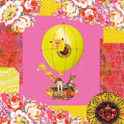 Hot-Air Balloon Trip-Mademoiselle Tralala-Art Print