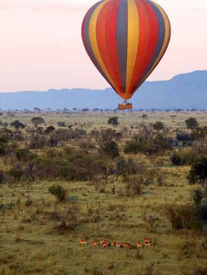 Hot-Air Ballooning, Masai Mara Game Reserve, Kenya-Kymri Wilt-Photographic Print