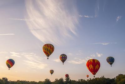 Hot Air Balloons Ascend at Sunrise-Brian Drouin-Photographic Print