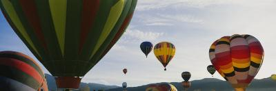 Hot Air Balloons in the Sky, Taos, New Mexico, USA--Photographic Print