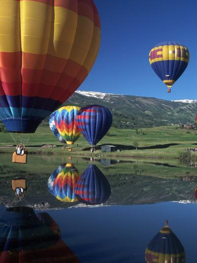 Hot Air Balloons, Snowmass, CO-Fred Luhman-Photographic Print