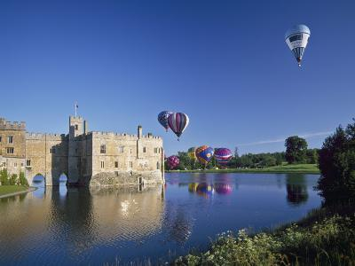 Hot Air Balloons Taking Off from Leeds Castle Grounds, Kent, England, United Kingdom, Europe-Nigel Blythe-Photographic Print