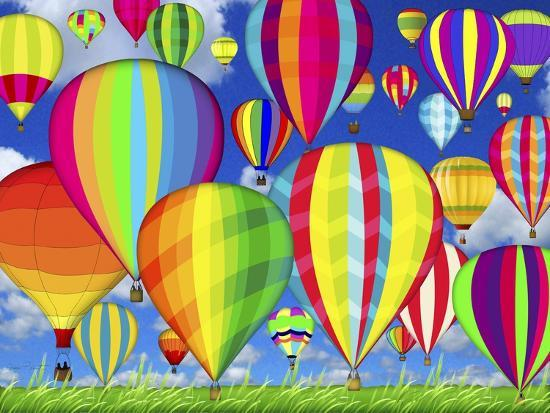 Hot Air Balloons-Jean Plout-Giclee Print