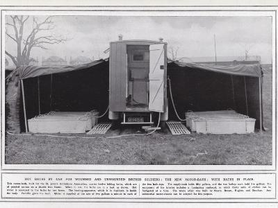 Hot Baths by Car for Wounded and Unwounded British Soldiers--Photographic Print