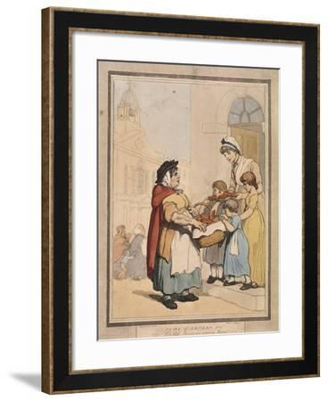 Hot Cross Bunns Two a Penny Bunns, Plate VIII of Cries of London, 1799-H Merke-Framed Giclee Print