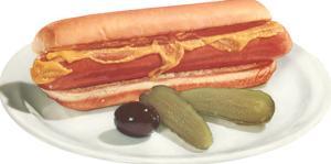 Hot Dog, Pickles, Olive