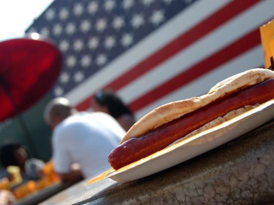 Hot Dogs at Nathan's, Coney Island, New York City, New York-Dan Herrick-Photographic Print