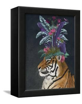 Hot House Tiger 2-Fab Funky-Framed Stretched Canvas