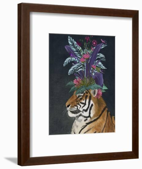 Hot House Tiger 2-Fab Funky-Framed Premium Giclee Print