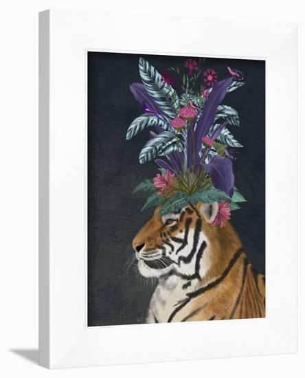 Hot House Tiger 2-Fab Funky-Framed Art Print