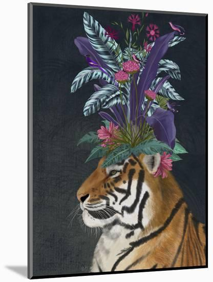Hot House Tiger 2-Fab Funky-Mounted Art Print