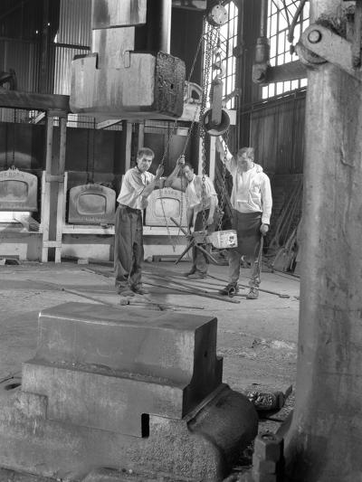 Hot Iron Ready for Forging, J Beardshaw and Sons, Sheffield, South Yorkshire, 1963-Michael Walters-Photographic Print