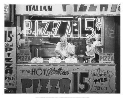 RESTAURANT ART PRINT Hot Italian Pizza Nat Norman
