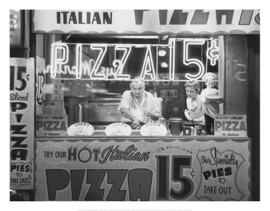 Hot Italian Pizza-Nat Norman-Art Print