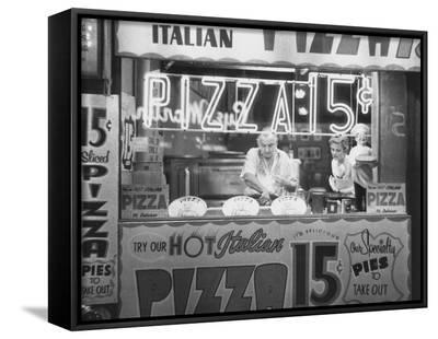 Hot Italian Pizza-Nat Norman-Framed Canvas Print