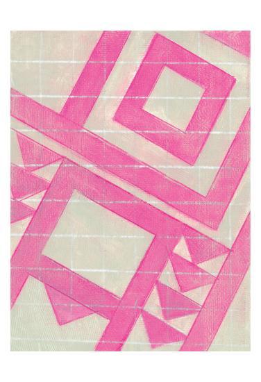 Hot Pink Geo-Smith Haynes-Art Print