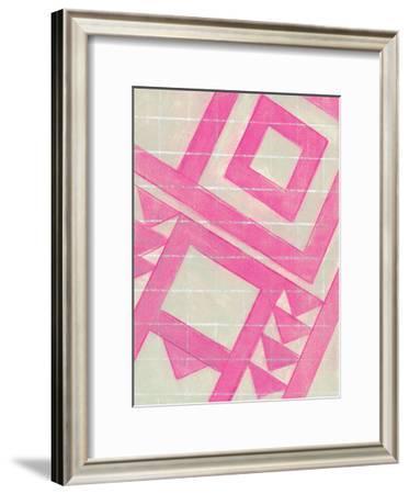 Hot Pink Geo-Smith Haynes-Framed Art Print