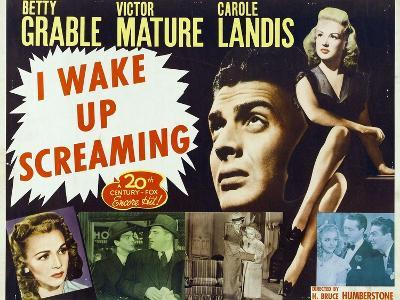 """Hot Spot, 1941, """"I Wake Up Screaming"""" Directed by H. Bruce """"Lucky"""" Humberstone--Giclee Print"""
