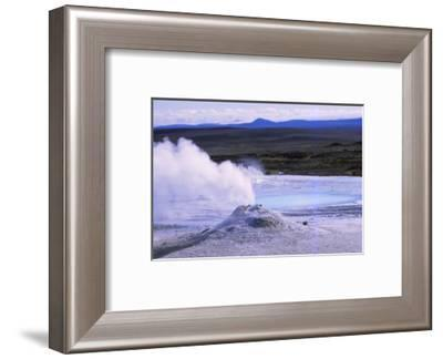 Hot Spring and Calcite Formation, Hveravellir, Central Iceland, 20th century-CM Dixon-Framed Photographic Print