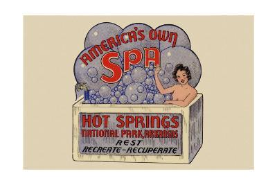 Hot Springs National Park, Arkansas - Americas Own Spa - Vintage Advertisement-Lantern Press-Art Print
