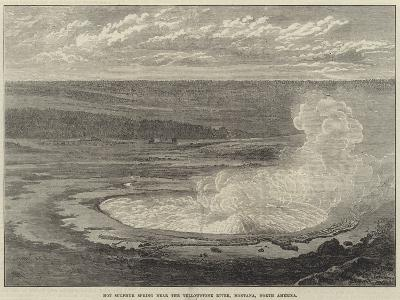 Hot Sulphur Spring Near the Yellowstone River, Montana, North America--Giclee Print
