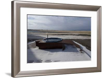 Hot Tub in the Snow, with River View Behind, Hotel Ranga, Hella, Southern Iceland-Natalie Tepper-Framed Photo