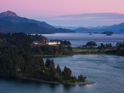 Hotel at the Lakeside, Llao Llao Hotel, Lake Nahuel Huapi, San Carlos De Bariloche--Photographic Print