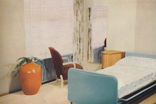 'Hotel bedroom', 1940-Unknown-Photographic Print