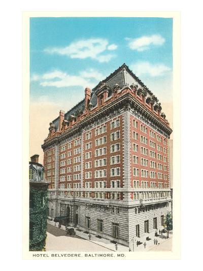 Hotel Belvedere, Baltimore, Maryland--Art Print