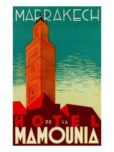 Hotel De La Mamounia--Art Print