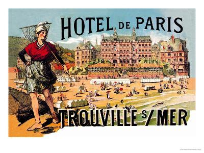 Hotel de Paris: Trouville-sur-Mer, c.1885-Th?ophile Alexandre Steinlen-Art Print