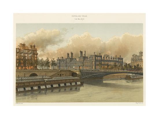 Hotel De Ville, 24 Mai 1871--Giclee Print