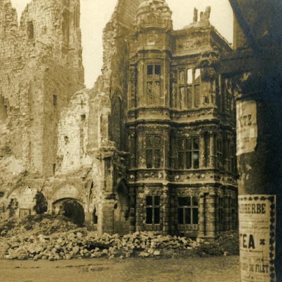Hôtel de Ville, Arras, northern France, c1914-c1918-Unknown-Photographic Print