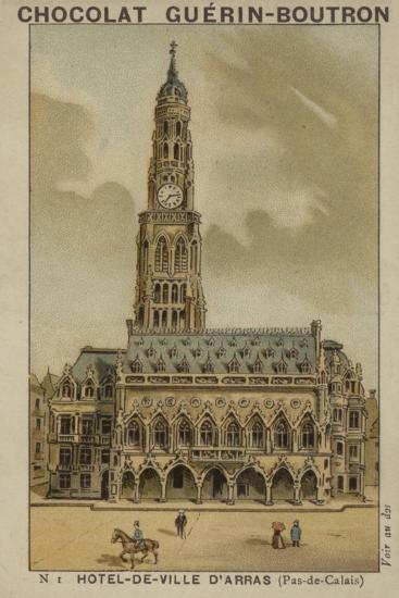 Hotel-De-Ville D'Arras, Pas-De-Calais--Giclee Print