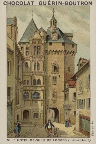Hotel-De-Ville De Loches, Indre-Et-Loire--Giclee Print
