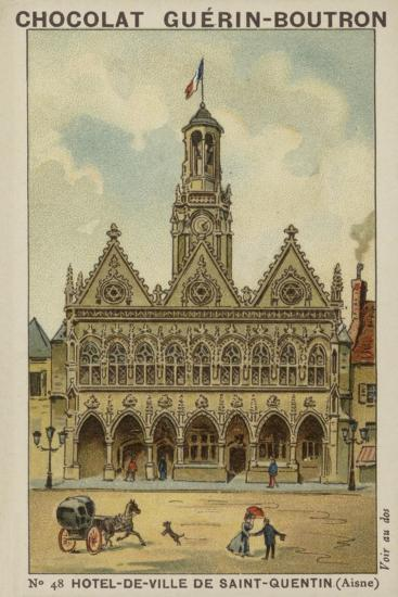 Hotel-De-Ville De Saint-Quentin, Aisne--Giclee Print
