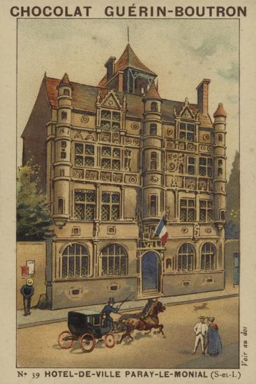 Hotel-De-Ville Paray-Le-Monial, Saone-Et-Loire--Giclee Print