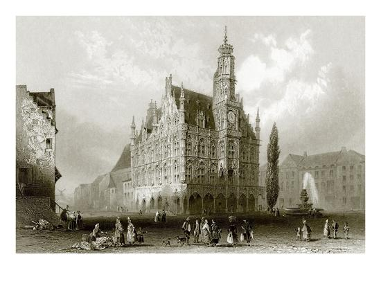 Hotel De Ville-English-Giclee Print