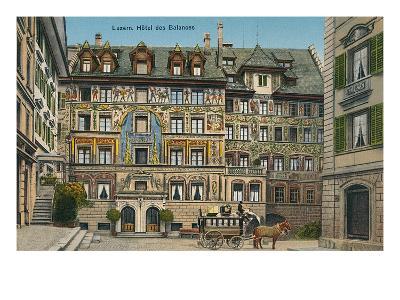 Hotel Des Balances, Lucerne, Switzerland--Art Print