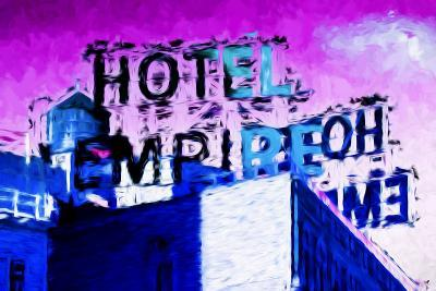 Hotel Empire Pink Sky - In the Style of Oil Painting-Philippe Hugonnard-Giclee Print