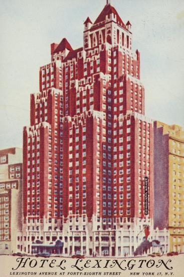 Hotel Lexington; New York City, Usa--Giclee Print