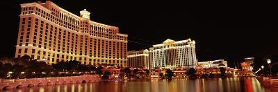Hotel Lit Up at Night, Bellagio Resort and Casino, the Strip, Las Vegas, Nevada, USA--Photographic Print