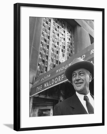 Hotel Magnate Conrad N. Hilton-Martha Holmes-Framed Premium Photographic Print